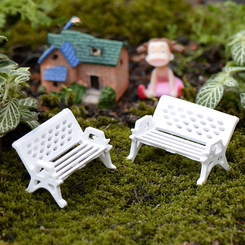 2017 Top Selling Miniatures Dollhouse Furniture Mini Chair Bench Stool Ornaments Wooden Props Home Garden Decor Diy Toys AL3282