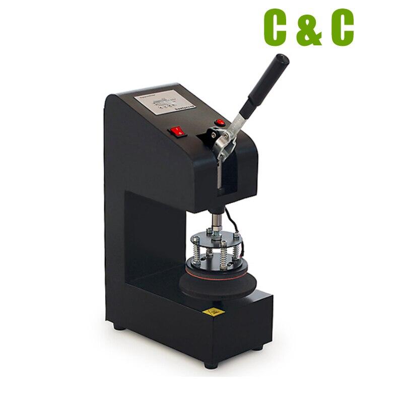 Tech-L Rosin Press Machine 3.2 x 3.2 Inch 1ton Dual Aluminium Plates Adjustable Pressure Heat Press Kit Digital Control Small Portable for Extruding Work