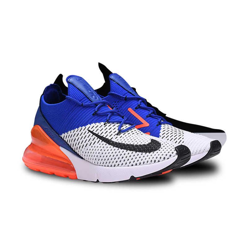 reputable site 62c56 bda2d ... Nike Air Max 270 scarpe Da Ginnastica Cuscino Sport Flyknit Runningg Scarpe  Classico Blu Arancio Nero ...