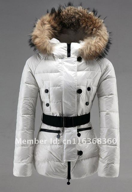 7986b06eee3 Hot Selling Women's Down Coat White Red Black Have Belt Winter Clothes Short  Lady Down Jacket Costly Brand Warm Fur Collar Coat