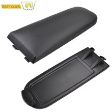 Car Armrest Cover Latch Center Console Lid For Seat Ibiza 6J PU Leather Arm Rest Cap Auto Accessories(China)