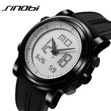 SINOBI Relojes Deportivos para Hombres Correa Del Silicón Led Digital Reloj de Los Hombres 2016 Impermeable de Lujo Hombres Reloj de Cuarzo Relogios masculinos