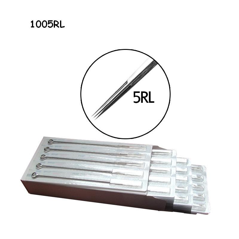 50PCS Mixed Assorted Sterilized Tattoo Needles Round Liner 1RL 3RL 5RL 7RL 9RL for tattoo machine gun grip tip Free Shipping 16