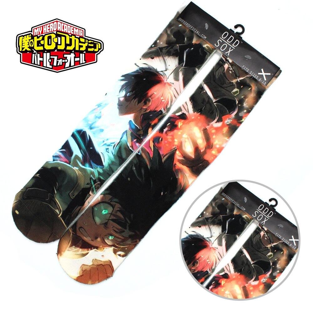 "Wellcomics 4x16"" Anime My Hero Academia Shoto Todoroki Izuku Midoriya Cotton Socks Colorful Stockings Tights Cosplay Costume New"