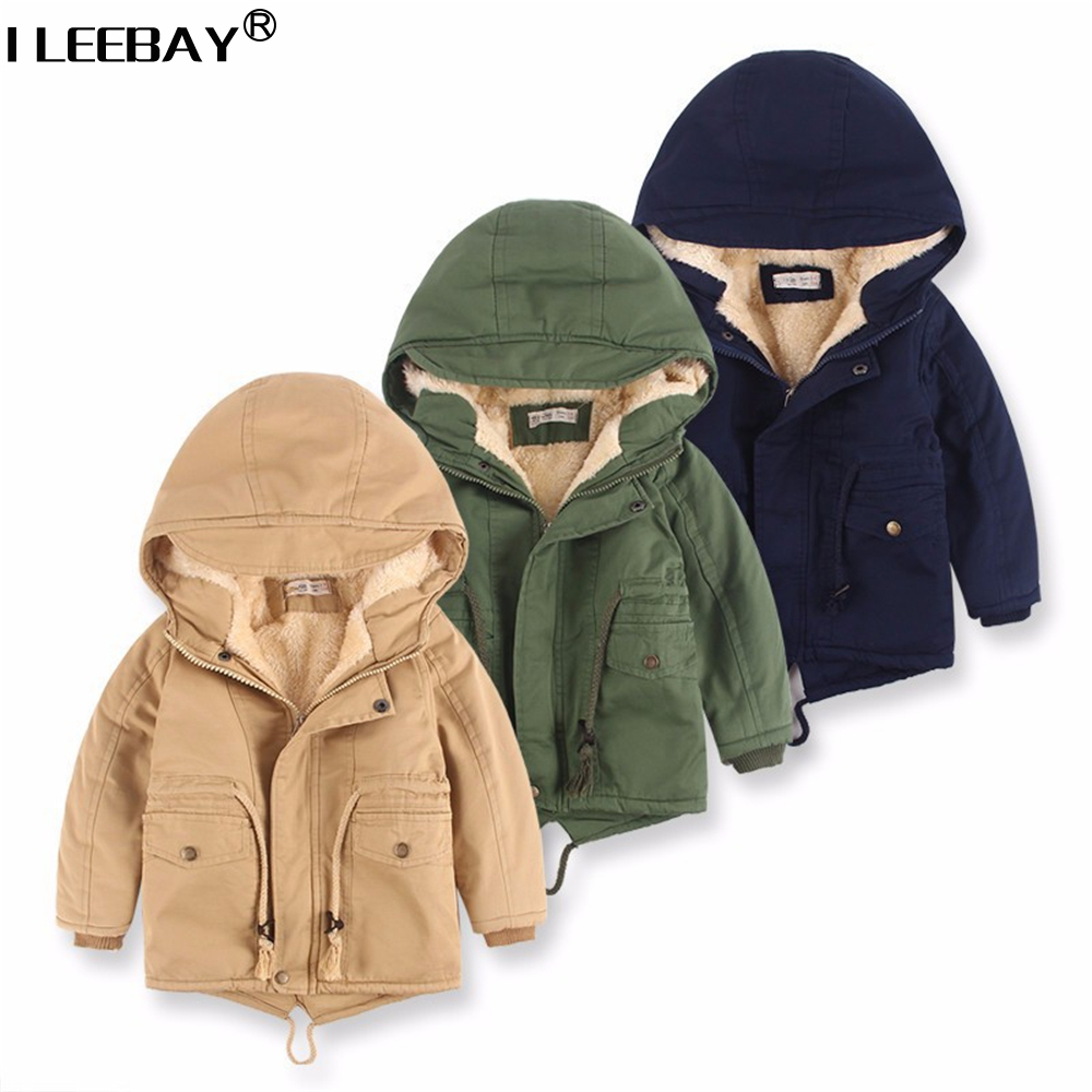 New Kids Boys Thicker Jacks Children Hoodies Boy's Hoody Plus Velvet Outerwear Toddler Coat Autumn Winter Warm Clothes