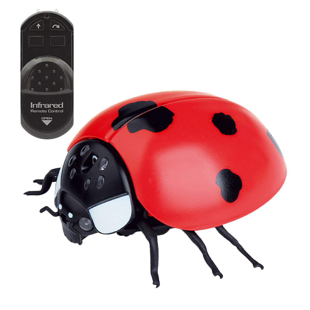Image 2 - Children Tricky Toys Infrared Induction Electric Remote Control ladybug Toy Gift practical and convenient Remote control toys-in RC Robots & Animals from Toys & Hobbies