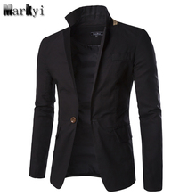 MarKyi 2017 new single button mens blazers arrivals slim fit long sleeve suit blaser masculino male plus size 3xl