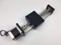 Бесплатная доставка резьбой линейной направляющей с мотором ballscrew для ЧПУ шариковинтовой модуль для 3d принтер частей Роботизированная
