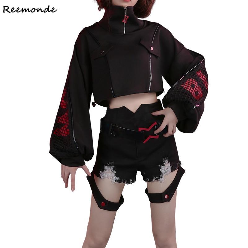 Movie Black Widow Cosplay Costume Natalia Alianovna Romanova Black Top Shorts Shoes Full Set For Women