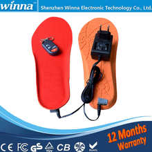 Electric Heated Insole Winter Shoes Boots Pad With Remote Control RED  Foam Material EUR Size 35-40#