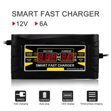 Автомобиль Батарея Зарядное устройство 12 В 6A 10A полностью автоматический Авто Smart Мощность зарядки для влажной и сухой свинцово-кислотная цифровой ЖК-дисплей дисплей ЕС США Plug