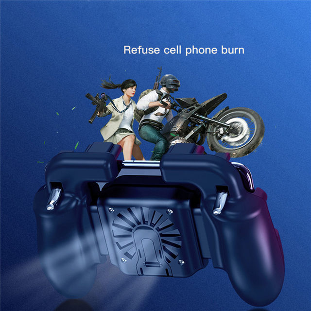 Mobile Phone L1R1 Controller Holder with Cooling Fan for smartphone games trigger free fire pubg mobile controller for iphone