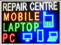 CHENXI Aliexpress hot sale custom graphics 19X19 Inch indoor Ultra Bright flashing mobile/pc/laptop repair centre sign of led-