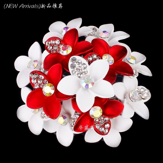 Wholesale 20pcs lot crystal flower spray painted women wedding wholesale 20pcs lot crystal flower spray painted women wedding jewelry hair pin clips hair bridal jewelry mightylinksfo
