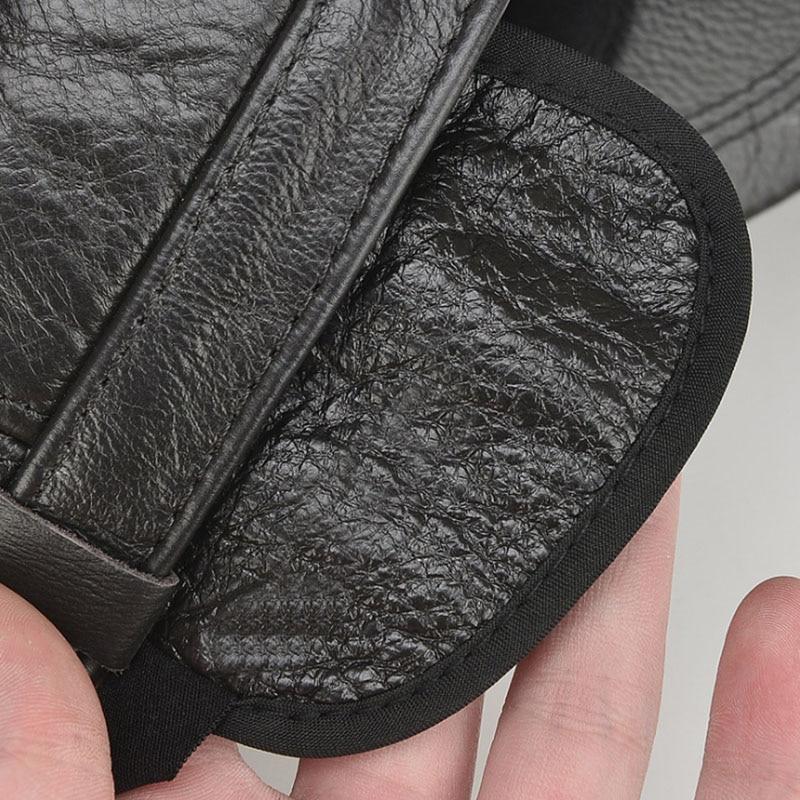 919d46d9719 Aliexpress.com   Buy  AETRENDS  Leather Hat Men 100% Leather Baseball Cap  with Ears Flap Dad Hats Bone Masculino Mens Winter Caps Trucker Cap Z 5304  from ...