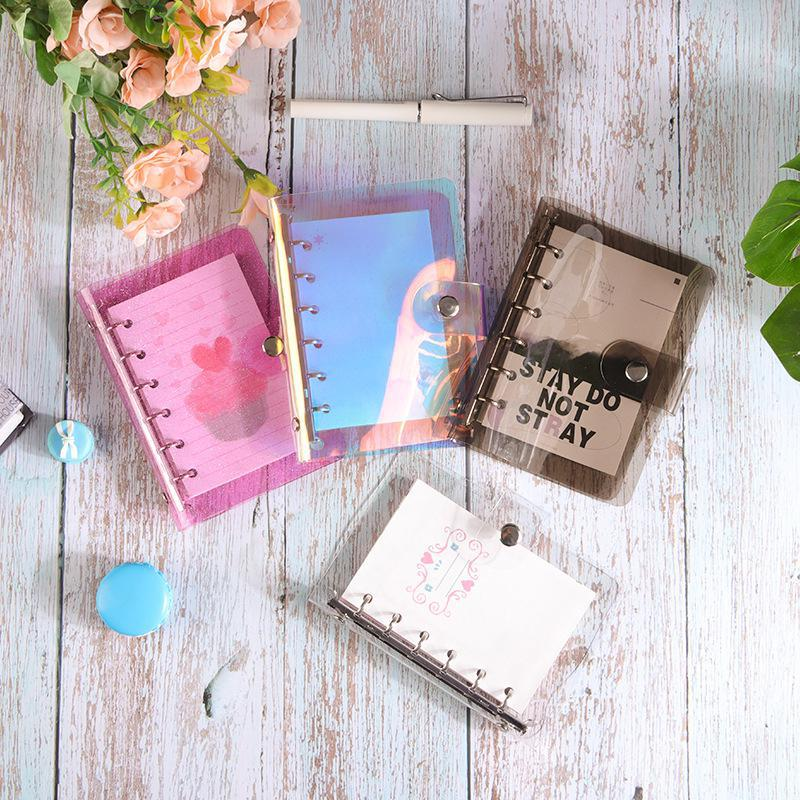 Creative A5 Colored Notebook Cover Spiral Diary Traveler's Planner Cover Paper Note Book Category Pages Stationery
