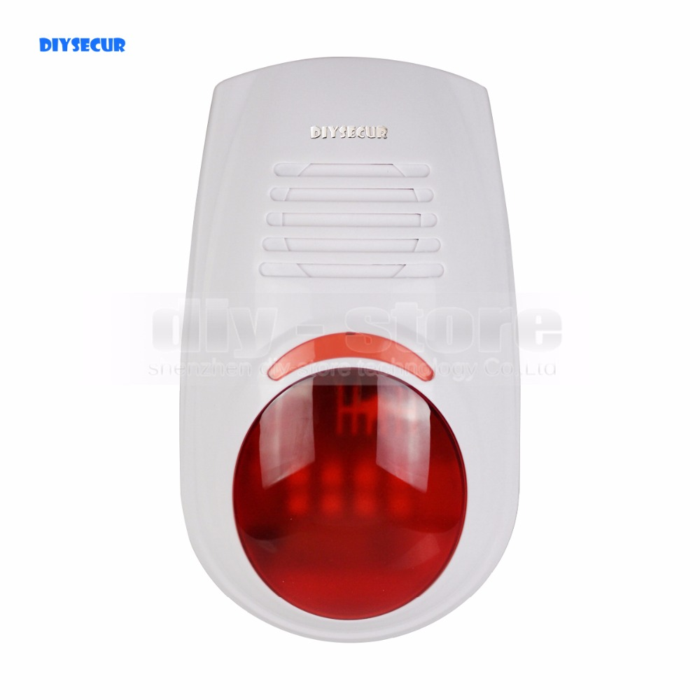 DIYSECUR LB-W03 Wireless Flash external Siren for Our Related Home Alarm Home Security System 433Mhz Strobe Siren цена и фото