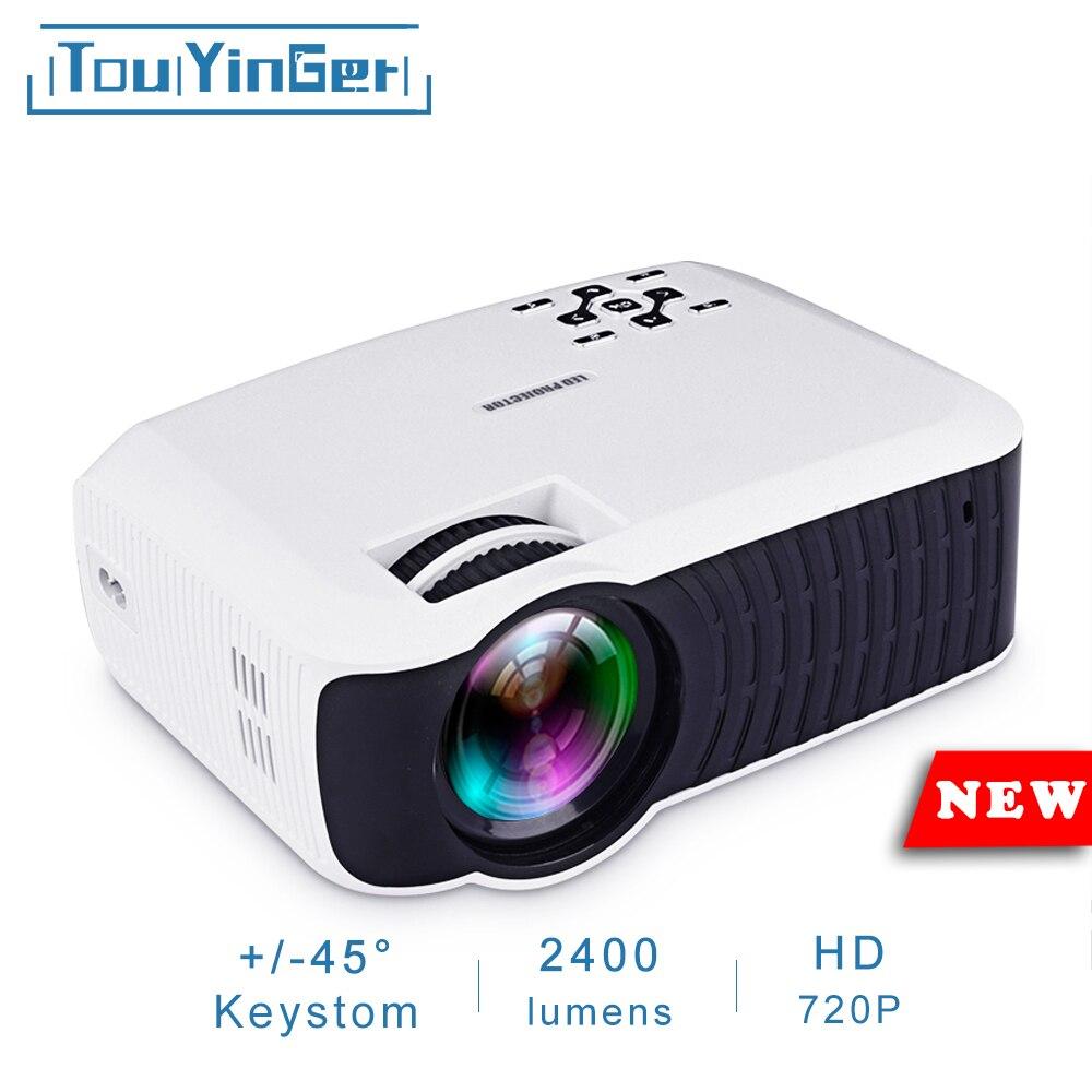 Touyinger T4 mini HA CONDOTTO il proiettore full hd 2400 lumen 720 p LCD a casa micro video theater protable beamer USB HDMI SD VGA 3d proiettore