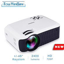 Touyinger T4 mini LED projector full hd 2400lumen 720p LCD home micro video theater protable beamer USB HDMI SD VGA 3d projector(China)