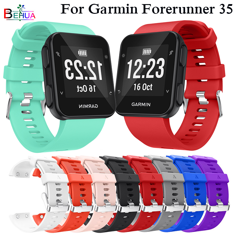 Silicone Sport Wristband For Garmin Forerunner 30 Replacement Smart Fashion Bracelet Watch Band Strap For Garmin Forerunner 35