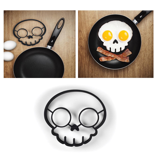 Hot New Gadgets Funny Non Stick Silicone Skull Fried Egg Mold - Egg-kitchen-gadgets