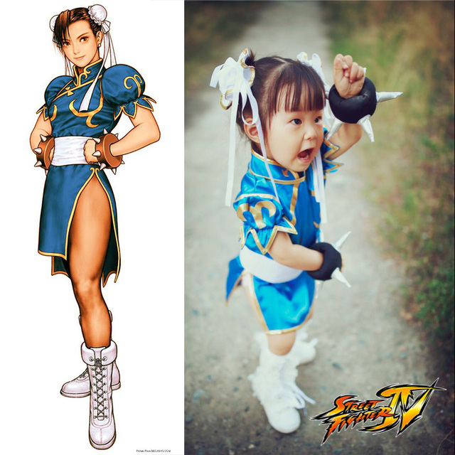 Classical Game Street Fighter Cun Li Cosplay Costume Halloween Party Dress For Kids Chinese Cheongsam  sc 1 st  AliExpress.com & Classical Game Street Fighter Cun Li Cosplay Costume Halloween Party ...