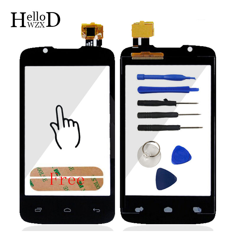 3.5inch Touchscreen For Fly IQ436 Era Nano 3 Fly IQ 436 Len Sensor Flex Cable Touch Screen Digitizer Panel Front Glass Adhesive