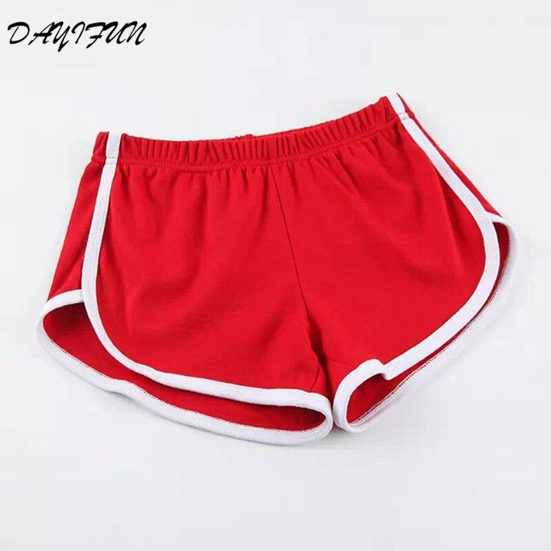 DAYIFUN Summer Street Fashion Shorts Women Elastic Waist Short Pants Women All-match Loose Solid Soft Cotton Casual Shorts NP001