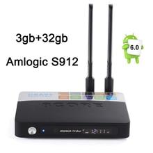Newest Amlogic S912 Android TV BOX CSA93 3GB 32GB Media player 2.4G&5.8G Dual wifi BT4.0 Gigabit Lan Android 6.0 4k smart tv box