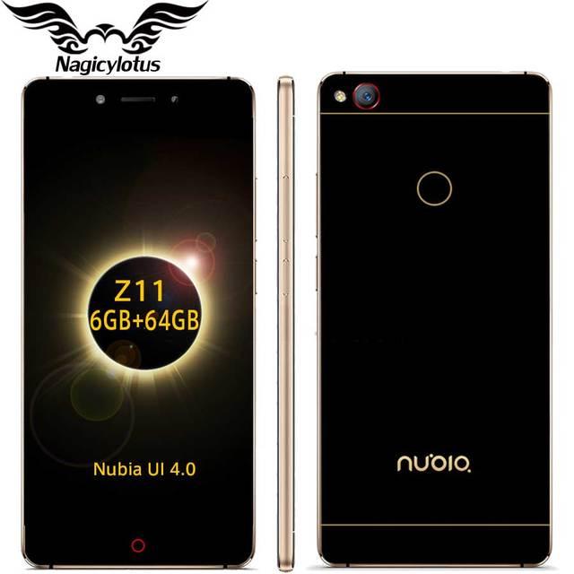 "Original ZTE Nubia Z11 5.5"" Borderless 4GB/6GB RAM 128GB/64GB ROM Mobile Phone Snapdragon 820 Quad Core 16.0MP Fingerprint NFC"