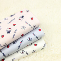 half-meter-twill-brushed-cartoon-cat-print-fabric-100-cotton-handmade-diy-garment-children-cloth-a607