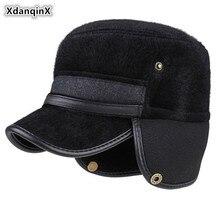 XdanqinX 2019 New Winter Mens Warm Earmuffs Caps Thick Army Military Hat  Snapback Cap Bone Fashion Flat Dads Warmth Hats