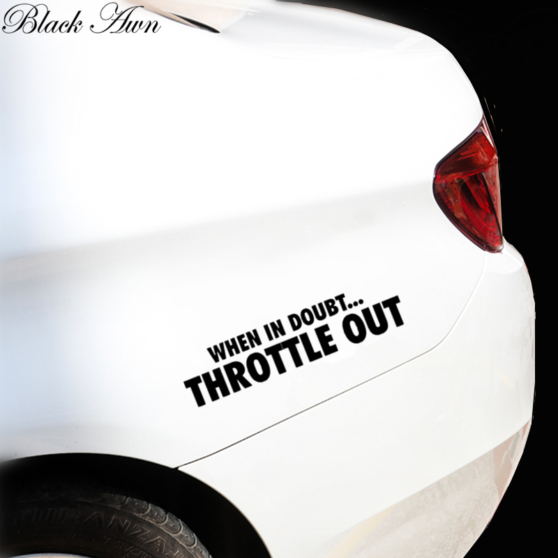 When in Doubt Throttle Out Sticker Funny Decal Car Truck D101 in Car Stickers from Automobiles Motorcycles