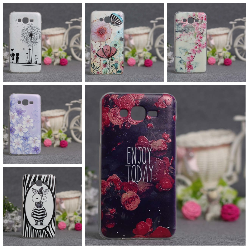 Phone Case Covers For Samsung Galaxy J7 2015 SM-J700F 5.5 inch J700 J7008 J700F J700H 3D Relief Painting Soft Silicon Back Cover