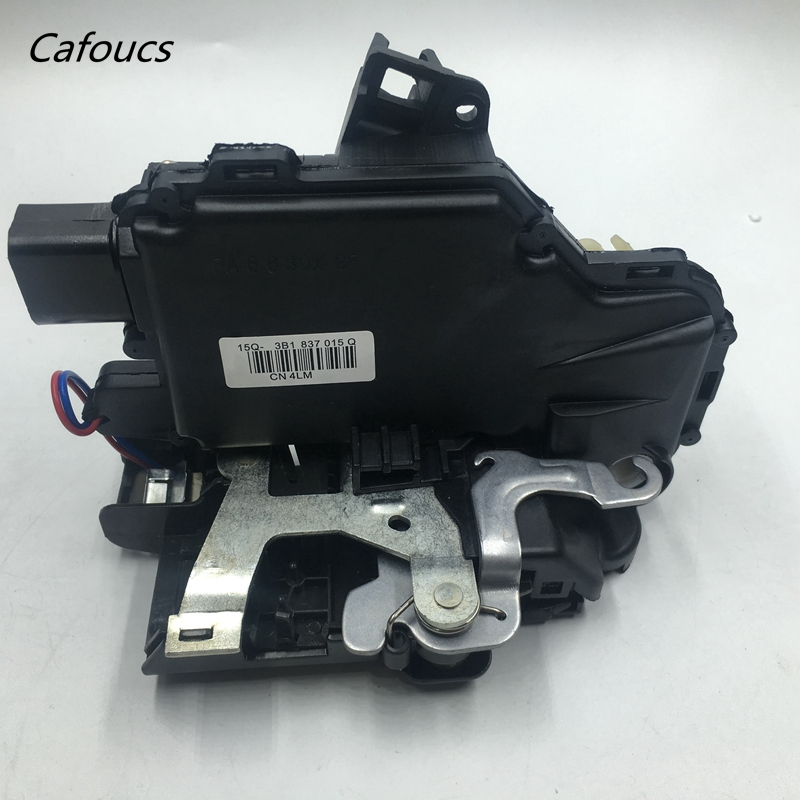 Cafoucs For Volkswagen Front Left Dirver Side Door Lock Unit Module For vw Passat B5 Golf 4 MK4 Jetta MK4 Bora 3B1 837 015A
