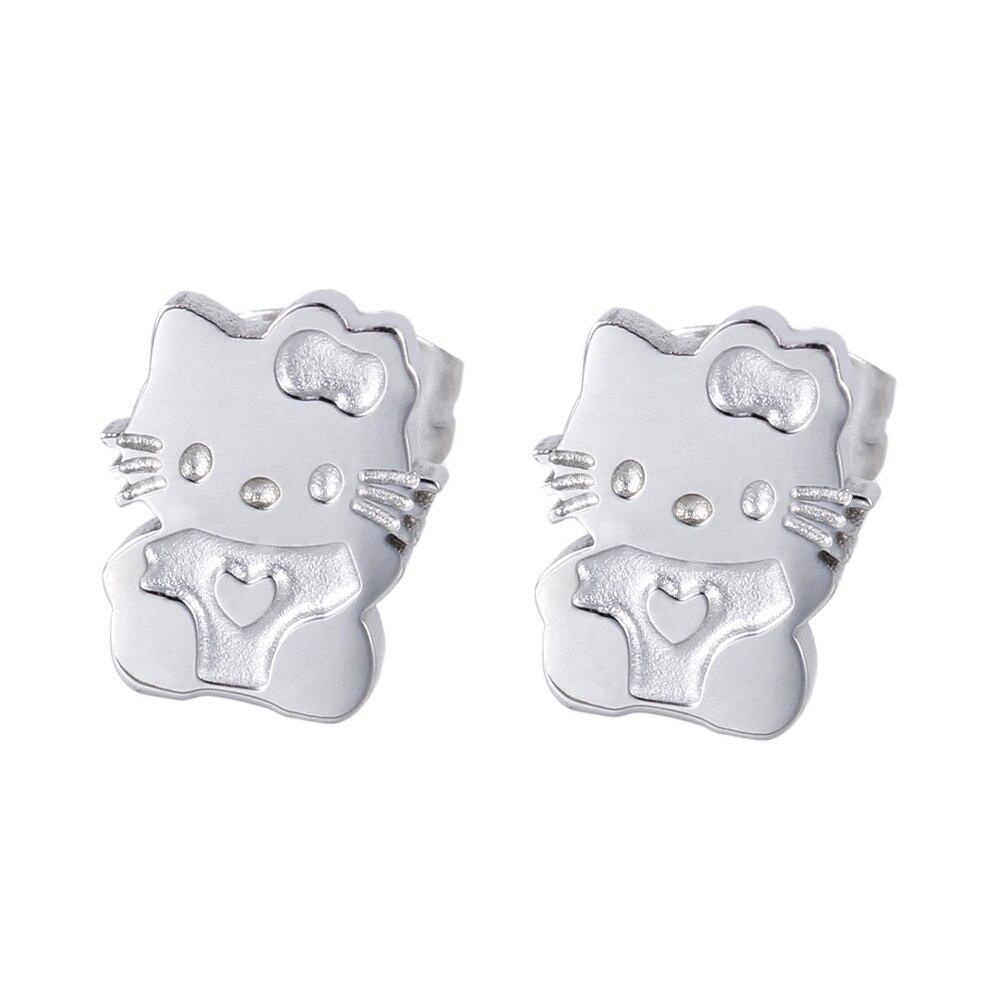 Girls Cute Earrings Lovely Hello Kitty Cat Ear Jewelry Quality ...