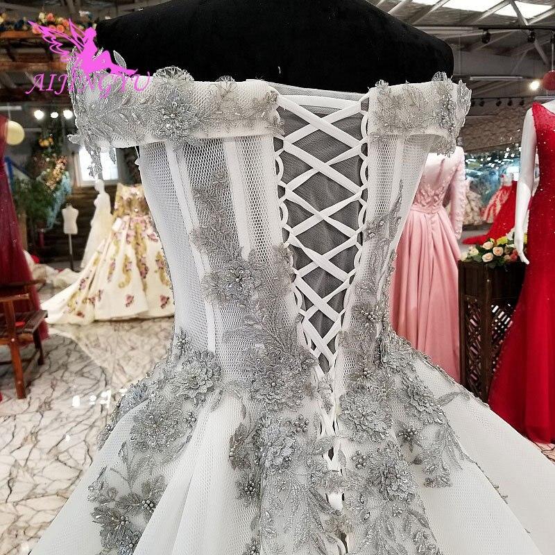 AIJINGYU Irlandese Abiti Da Sposa Medievale Abiti Bridals A Buon Mercato Uk Plus Size Diserbo 2018 Rosa Vestito Sexy Abito Da Sposa - 6