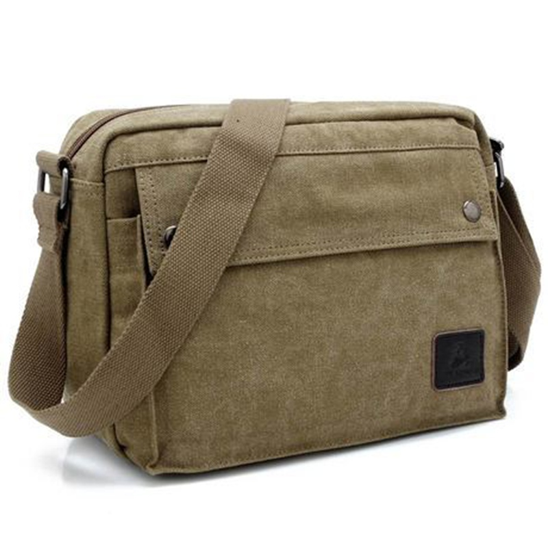 все цены на  Vintage Casual Men's Shoulder Messenger Bags High Quality Canvas Crossbody Men's Bag Handbags Business Travel Bag Leisure Bolsas  в интернете