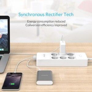 Image 5 - ORICO מפצל חשמל חכם נייד טעינה 4/6/8 חנויות עם 5 2.4 40W USB מטען יציאות גל הגנה עם 1.5m כבל חשמל