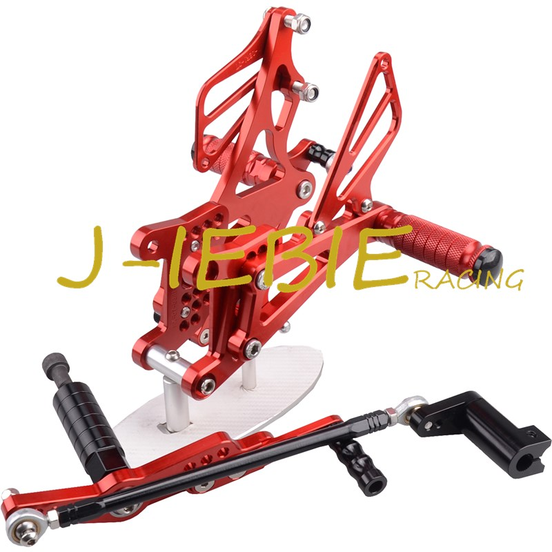 CNC Racing Rearset Adjustable Rear Sets Foot pegs Fit For Yamaha YZF R1 2007 2008 RED morais r the hundred foot journey