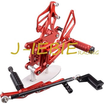 CNC Racing Rearset Adjustable Rear Sets Foot pegs Fit For Yamaha YZF R1 2007 2008 RED