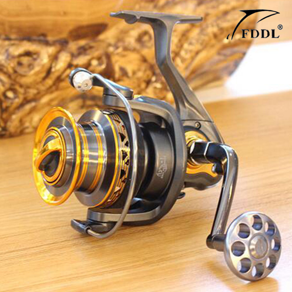 New type! Superior Metal Arm 13+1BB 4000-7000 Series Surf Spinning Fishing Reels Big Long Shot Casting Fly Sea Wire Cup Wheels