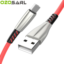 5V2.4A Zinc Fast Charging 100CM USB Cable Type C Micro Charger Anti-Folding Nylon Braided Cord for iPhone iPad