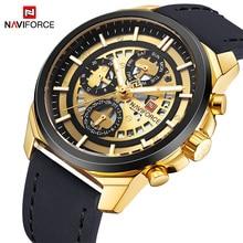 Relojes de pulsera de cuarzo de marca de lujo NAVIFORCE para hombre, reloj de cuarzo con 24 horas de fecha, reloj deportivo a prueba de agua para hombre, reloj Masculino