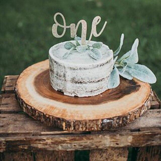 One Cake Topper First Birthday Smash Glitter