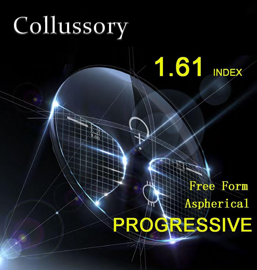 1 61 Index Aspherical Optical Free Form Progressive Prescription Reading Lenses HMC EMI Bofical Multifocal Clear