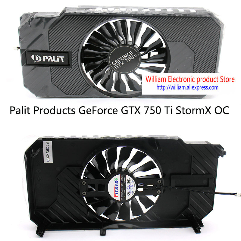 New Original Graphics Video card fan for Palit <font><b>GTX750Ti</b></font> StormX OC FD9015H12S DC12V 0.40A <font><b>2</b></font> Lines image