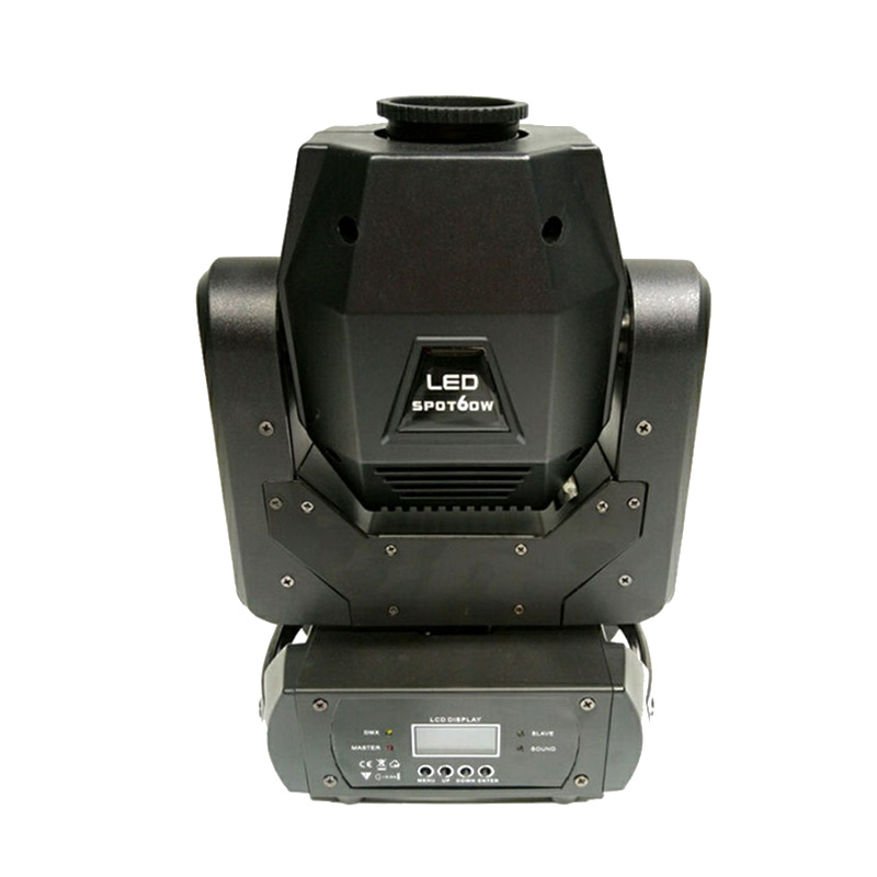 New invented bright china 60W led dmx 11 gobos effect with 3 prism rotate gobo moving head light stage dj mini 60W moving heads