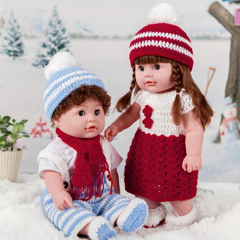 Lol poupées jouets Bjd bébé Reborn Silicone parlant Simulation poupée colle douce réconfortant et dormant peluche enfants jouet