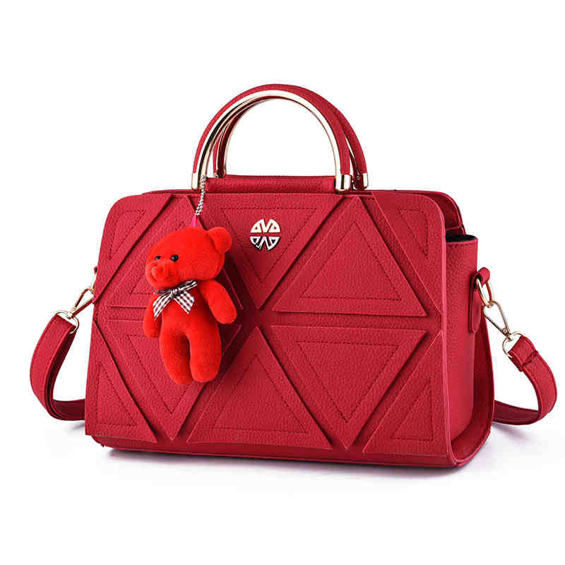1 pcs bear toy Casual Embossed Designer Handbags High Quality Women Messenger Bags American Shoulder Bags